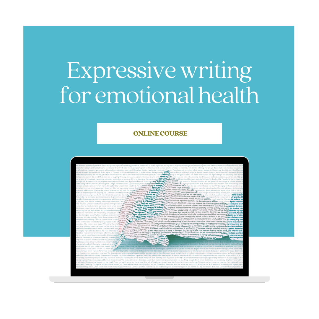 Signup to my expressive writing for emotional health course